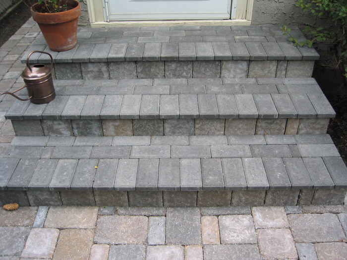 Brick Steps Crosstown Concrete Amp Brick Paving Inc